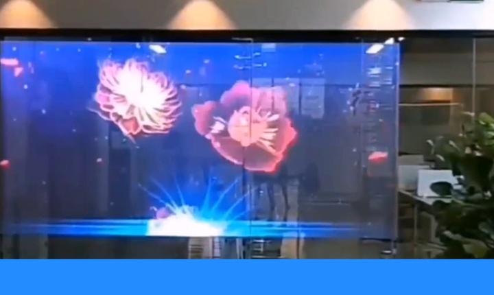 Embedded thumbnail for Прозрачный и гибкий видеоэкран с шагом пикселя Р6